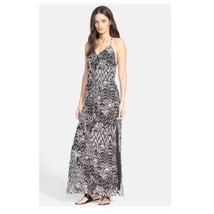 IRO Dahlia black white ikat maxi dress